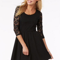 Lace Inset Skater Dress