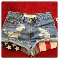 Vintage high waist or low rise distressed American by FatLipBella