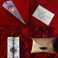 Set of 4 Harry Potter letters Christmas Ornament