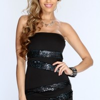 Teal Black Sequins Strapless Sexy Party Dress @ Amiclubwear sexy dresses,sexy dress,prom dress,summer dress,spring dress,prom gowns,teens dresses,sexy party wear,women's cocktail dresses,ball dresses,sun dresses,trendy dresses,sweater dresses,teen clothin