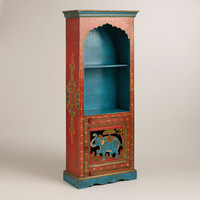 Elephant and Floral Motif Bookcase - World Market