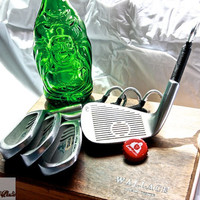 4 Golf Club Bottle Openers - Prestige Golf 'The Cat' Irons - Groomsmen Gifts
