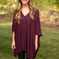 Come With Me Top - Burgundy