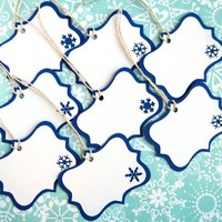 Snowflake Holiday Gift Tags Set of 8