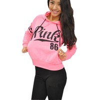 Print Hats Casual Sports Fleece Women's Fashion Hoodies [7909861382]