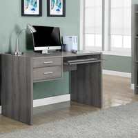 "Dark Taupe Reclaimed-Look 48""L Computer Desk"