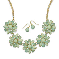 Fresh Mint Fashion Necklace and Earring Set