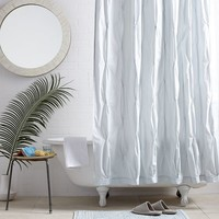 Pintuck Shower Curtain - Clearwater