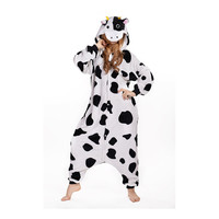 Unisex Adult Pajamas  Cosplay Costume Animal Onesuit Sleepwear Suit cow