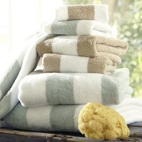 PB Classic Stripe 650-Gram Weight Bath Towels | Pottery Barn