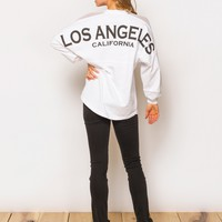 Los Angeles Jersey in White by Spirit - ShopKitson.com