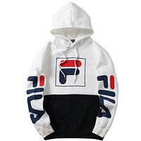 Fila Women or Men Fashion Casual  Top Sweater Hoodie