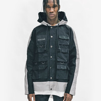 3M Reflective Stripe Multi-Cargo Jacket in Black