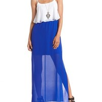 Tiered Color Block Maxi Dress: Charlotte Russe