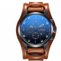 Simply Leather Military Men Watch