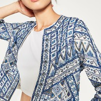 EMBROIDERED JACKET - View all-WOMAN-NEW IN | ZARA United States