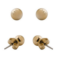 Ball Stud Gold Plated Post Earrings6mm