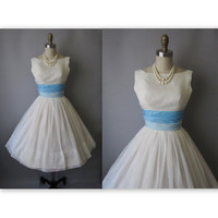 50's Wedding Dress // Vintage 1950's White by TheVintageStudio