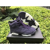"Air Jordan 6 Retro GS ""Purple Dynasty"" Basketball Shoes 36-40"