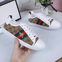Gucci Old Skool Woman Men Fashion Embroidery Flats Shoes