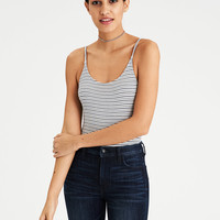 AE SOFT & SEXY BASIC STRIPED LOW BACK BODYSUIT, Blue