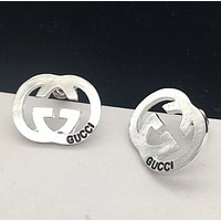 GUCCI New fashion personality letter earring women accessories Silver