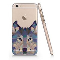 Woodpostshop - Graphic Wolves Phone Case - Matt White Protective Durable Cover Case (For Iphone 6)