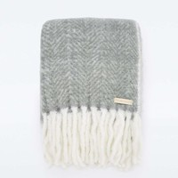 Knitted Grey Throw - Urban Outfitters
