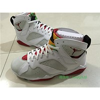 "Air Jordan 7 Retro ""Hare"" white/red Basketball Shoes 41-47"