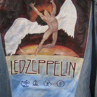 SOLD-Swan Song-Led Zeppelin Hand Painted Jacket