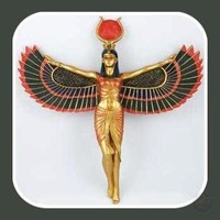"""""""Isis"""" Egyptian Goddess Open Wings Wall Plaque"""