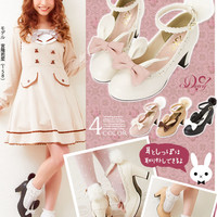 Lolita rabbit shoes Free shipping