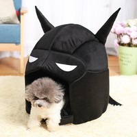 Batman Dark Knight gift Christmas Cool Batman Pet Supplies New Garden Type Warm Cats And Dogs Kennel Dog House 2 Colors For Small Dogs Dog Bed House AT_71_6