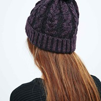 Ombre Pom Beanie in Plum - Urban Outfitters