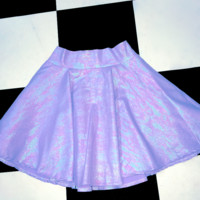 SWEET LORD O'MIGHTY! MILKMAID SKIRT IN SHIMMERY PURPLE