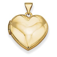 14k Plain Heart Locket XL72