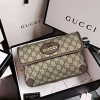 Gucci Popular Women Leather Zipper Shopping Crossbody Shoulder Bag Satchel