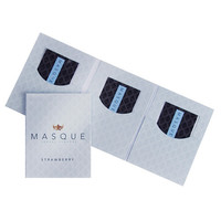 Masque Strawberry Sexual Flavors Wallet Singles - Pack Of 3
