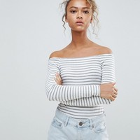 ASOS DESIGN bardot stripe body at asos.com