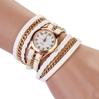 8 Colors New arrival Women Watches Handmade Weave Watches PU Leather Bracelet Casual Wrist watch For Women Relogio Feminino