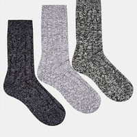 ASOS | ASOS 3 Pack Cable Boot Socks at ASOS