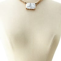 Faux Marble Statement Necklace