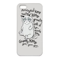 New Item Grumpy Cat Customized Special DIY Hard Case Cover for iPhone 5 5s