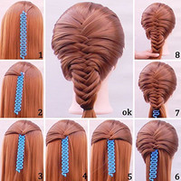 Shells 2Pack Blue Color Sport Braider Hairstyling Tool French Hair Braiding Tool With Instruction