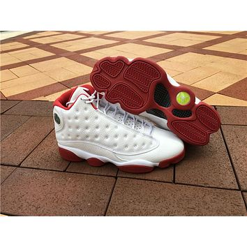"""Air Jordan 13 """"while red""""Boost Basketball Shoes 36-47"""