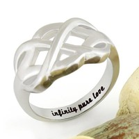 """Couples Ring Infinity Ring, Promise Ring Infinity Symbol Ring """"Infinity Pure Love"""""""