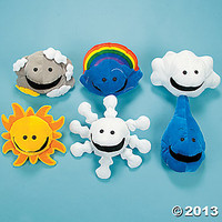 6 Velour What's The Weather Puppets