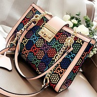 COACH New fashion multicolor more letter print shoulder bag crossbody bag