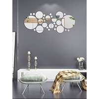 30pcs Circle Mirror Surface Wall Sticker