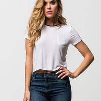 FULL TILT Solid Womens Ringer Tee | Essentials
